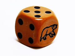 D6 Bear Die - Brown - 16mm