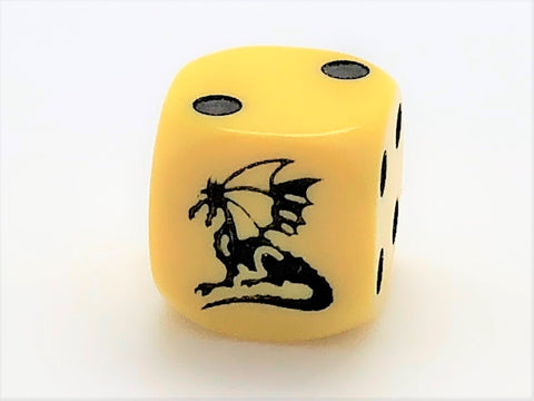 D6 Dragon Die - Yellow- 16mm