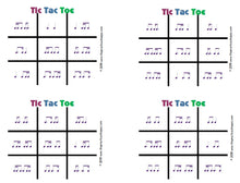 Load image into Gallery viewer, Tic Tac Toe - Purple
