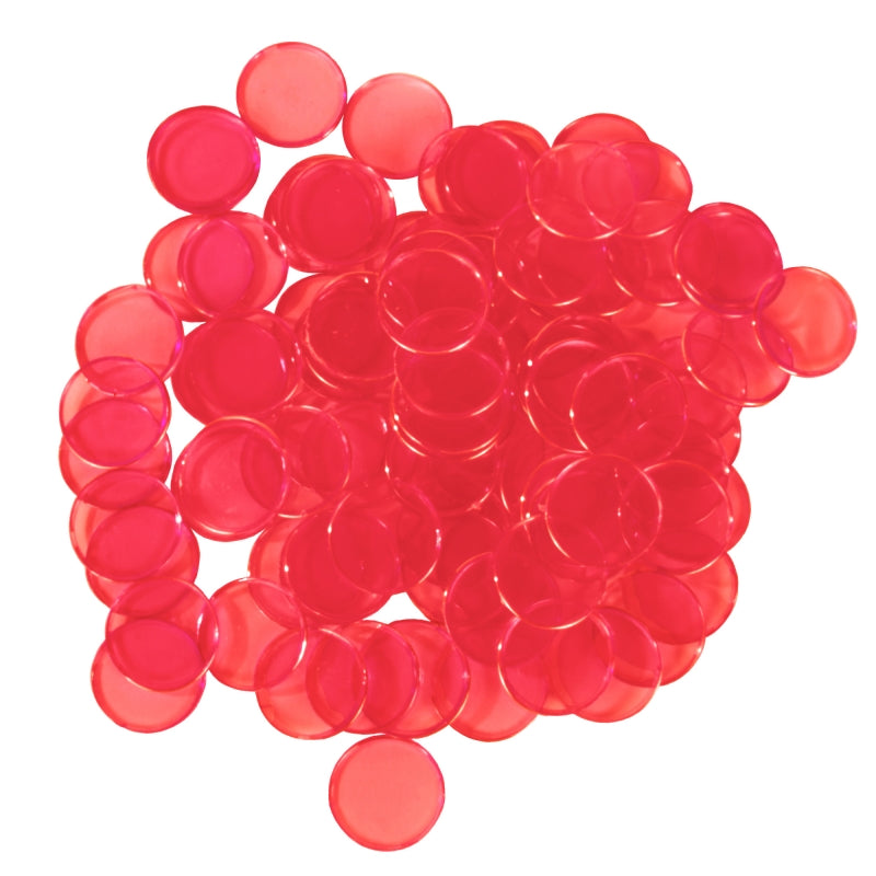 Magnetic Chips 100 - Red