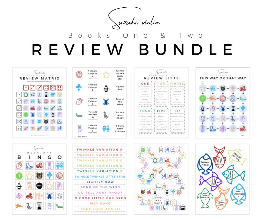 Suzuki Violin Review Bundle (Digital Download)