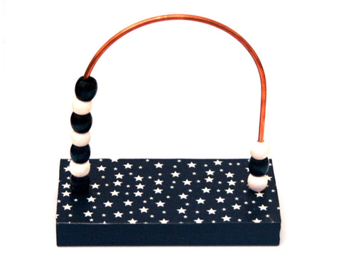 Stars Navy Bead Counter