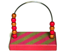 Stripes Pink Diagonal Bead Counter