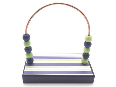 Stripes Purple and Green Bead Counter