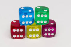 Transparent Dice 10 mm