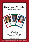 Violin Suzuki Review Cards for Volumes 5-10 - Small
