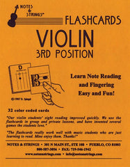Violin - 3rd Position - Regular Unlaminated Flashcards