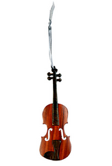 Violin Wood Ornament