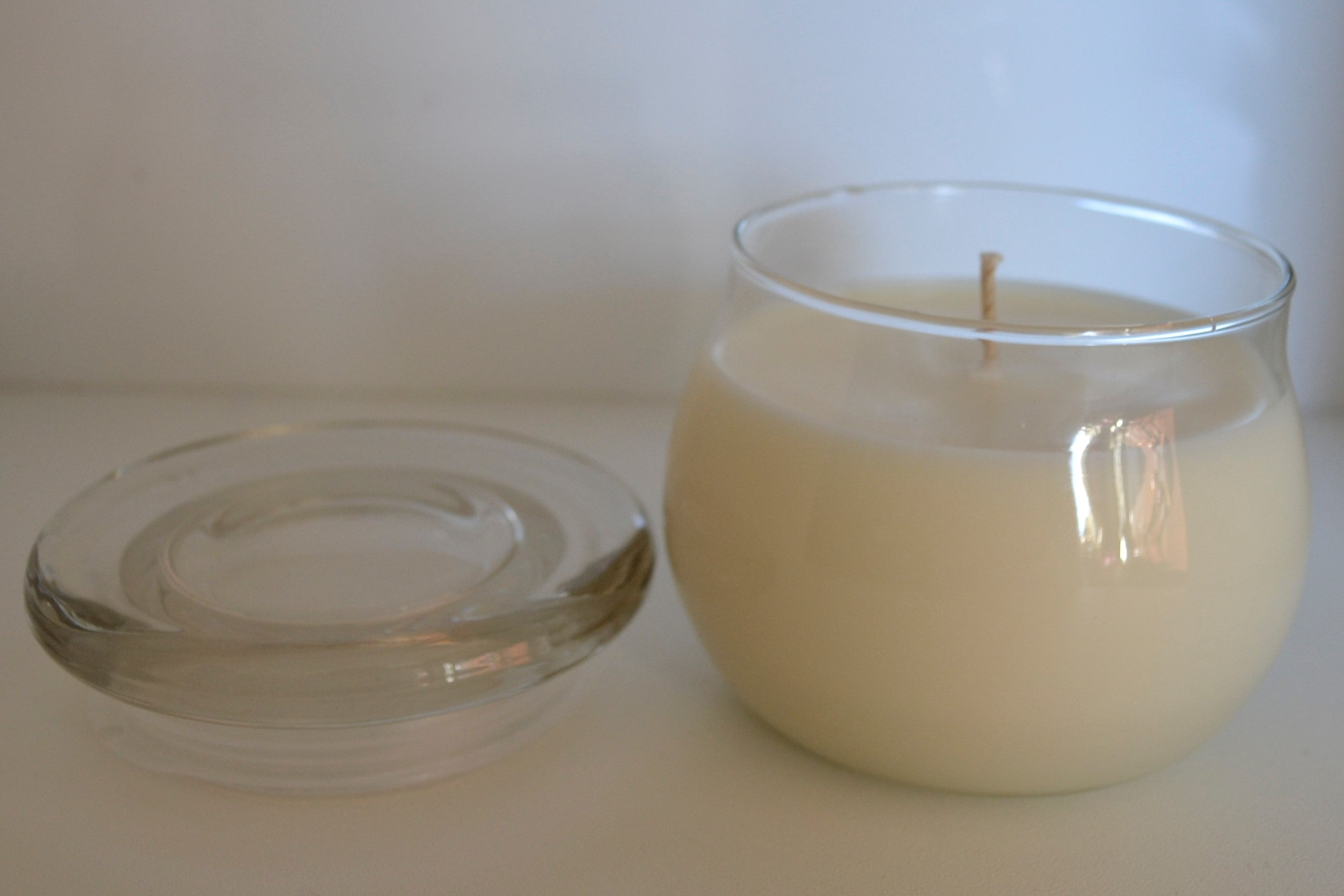 Large 'Selene' Bulb Soy Candle with Essential Oils