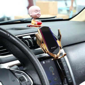 Auto Clamping Wireless Phone Car Charger Wireless Charging Mount for Iphone/Samsung/Android/