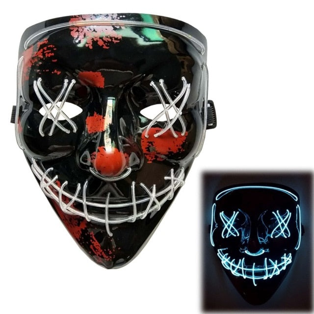 Purge Halloween Led Light Party Mask