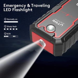 UTRAI™ Portable Waterproof Car Jump Starter 22000mAh 2000A 12V