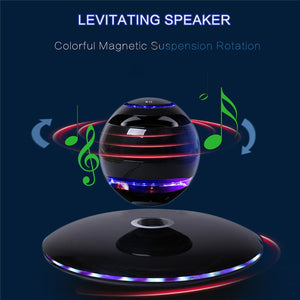 Magnetic Levitating Bluetooth Speaker With Stunning LED Effects