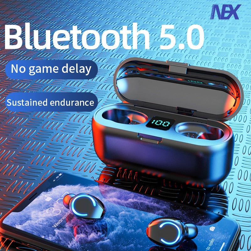 TWS 5.0 Waterproof Wireless Bluetooth Earbuds