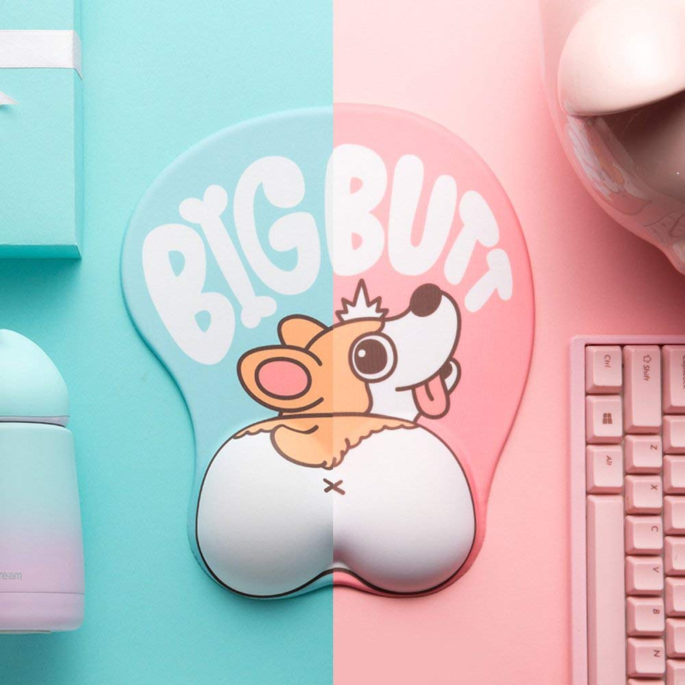 Corgi Cute Dog 3D Big Butt Mouse Pad
