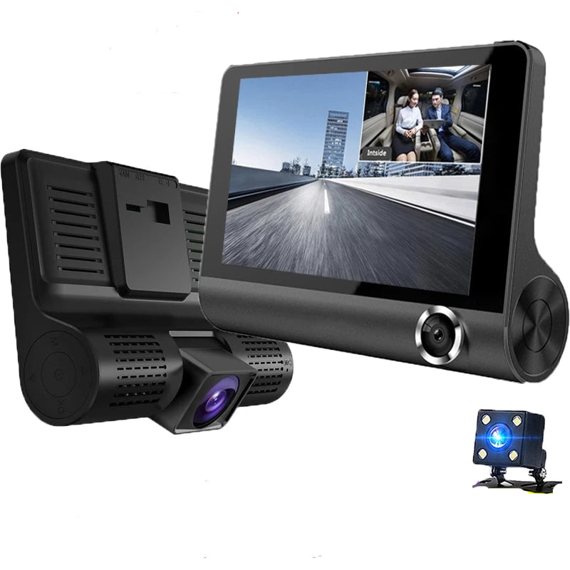 Front And Rear Dual Car Dash Cam Surveillance Full HD 1080P Dual Dash Cam With Rearview Camera