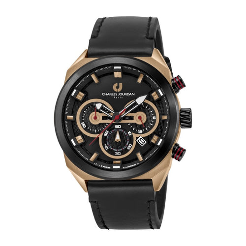 Ludis CJ1082-1532C Men Sports Quartz 45mm Leather