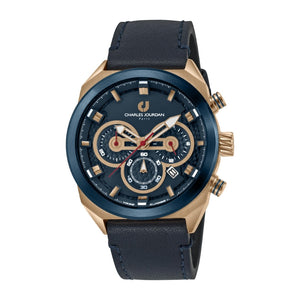 Ludis CJ1082-1582C Men Sports Quartz 45mm Leather