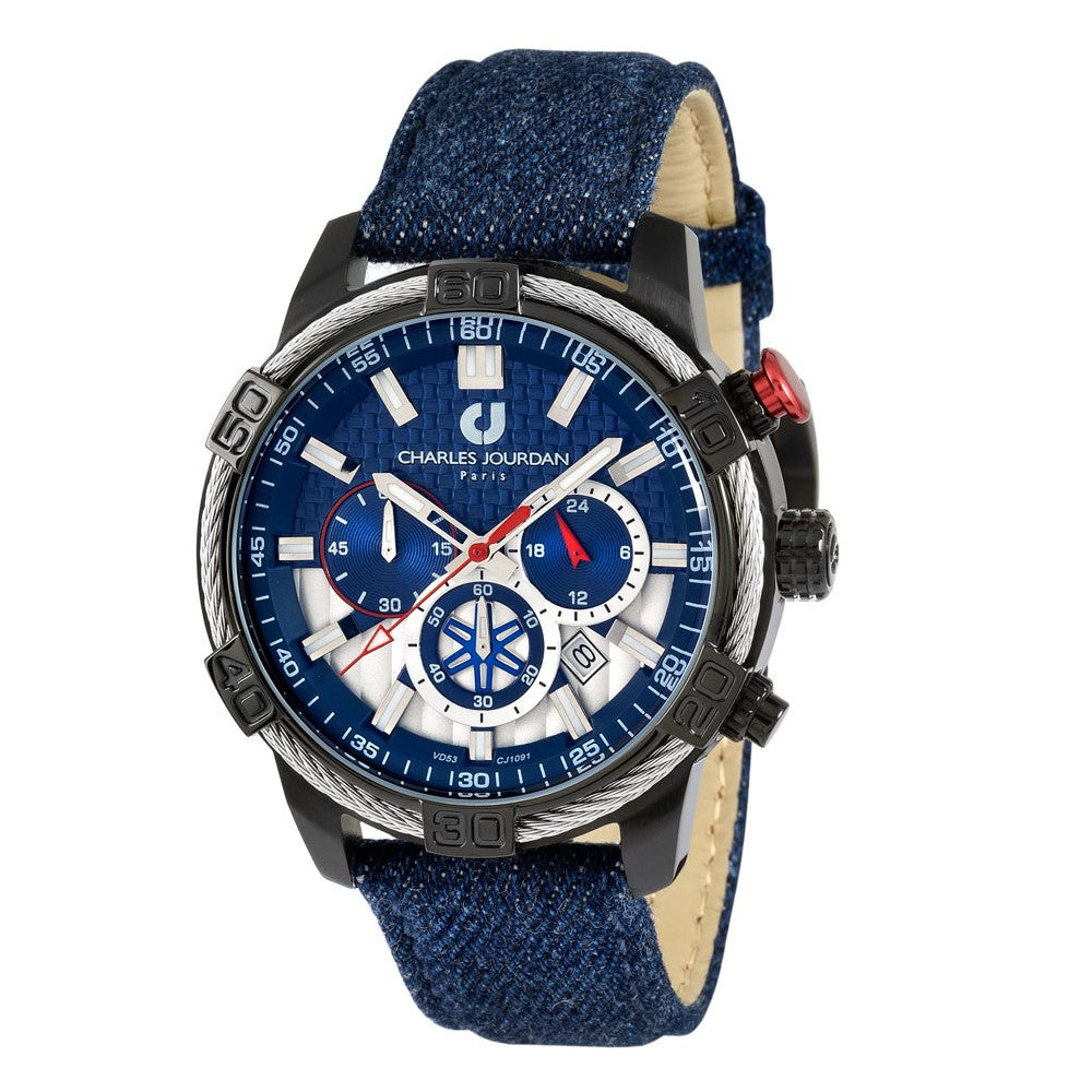 Ludis CJ1091-1782C Men Chronograph 46mm Denim
