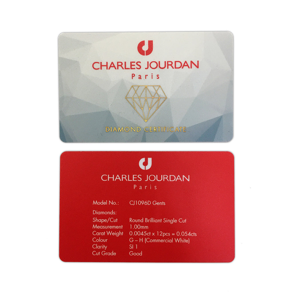 Charles Jourdan Diamond Certificate Card
