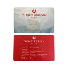 Load image into Gallery viewer, Charles Jourdan Diamond Certificate Card