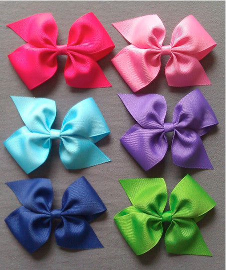 Large Bright 6 Bow Set with Clips