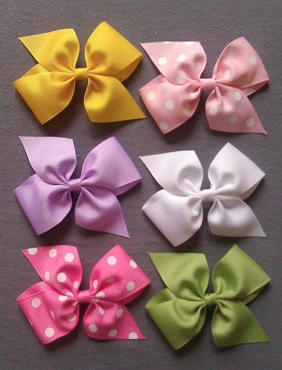Pastel 6 Large Bow Set with Clips