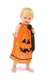 Orange Dot Pumpkin Dress