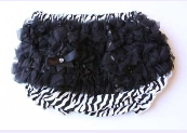 Zebra Diaper Cover with Black Ruffles
