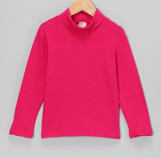 Bright Pink Turtleneck