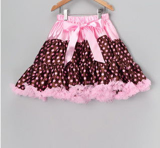 Brown & Pink Dot Pettiskirt