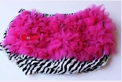 Hot Pink Zebra Diaper Cover