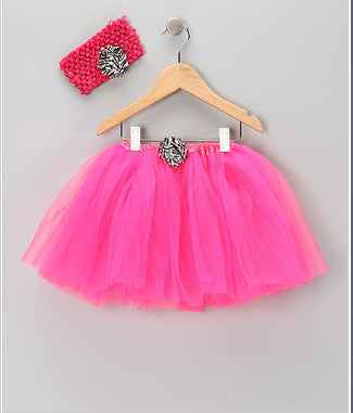 Hot Pink & Zebra Tutu Set