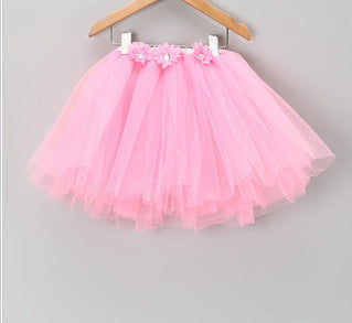 Ballet Pink Tutu with Flowers