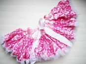 Pink Pettiskirt with White Dots