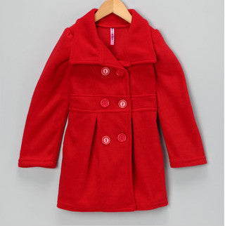 Pea Coat Red