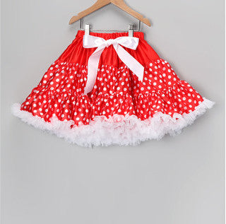 Red Pettiskirt with White Dots