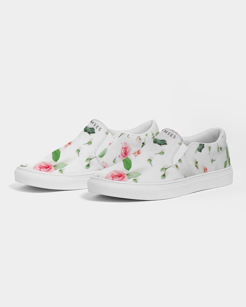 Ramses Pink & Green  Men's Slip-On Canvas Shoe