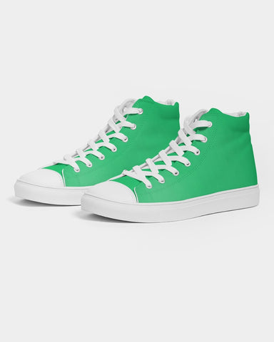 Mean Green  Men's Hightop Canvas Shoe