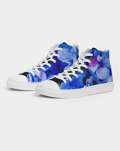 Pratorias Blue  Men's Hightop Canvas Shoe