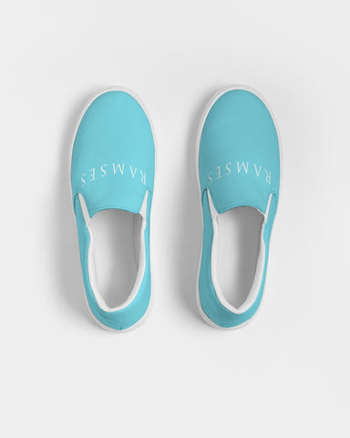 Cotton Candy Blue Women's Slip-On Canvas Shoe