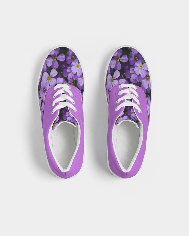 Purple Haze Women's Lace Up Canvas Shoe