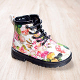 Bottines fleuries printemps/automne