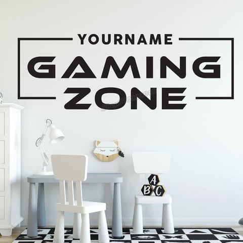 Autocollant Gaming Zone personnalisable