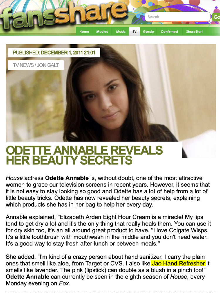 Fans Share: Odette Annable Shares Her Beauty Secrets Jao Refresher