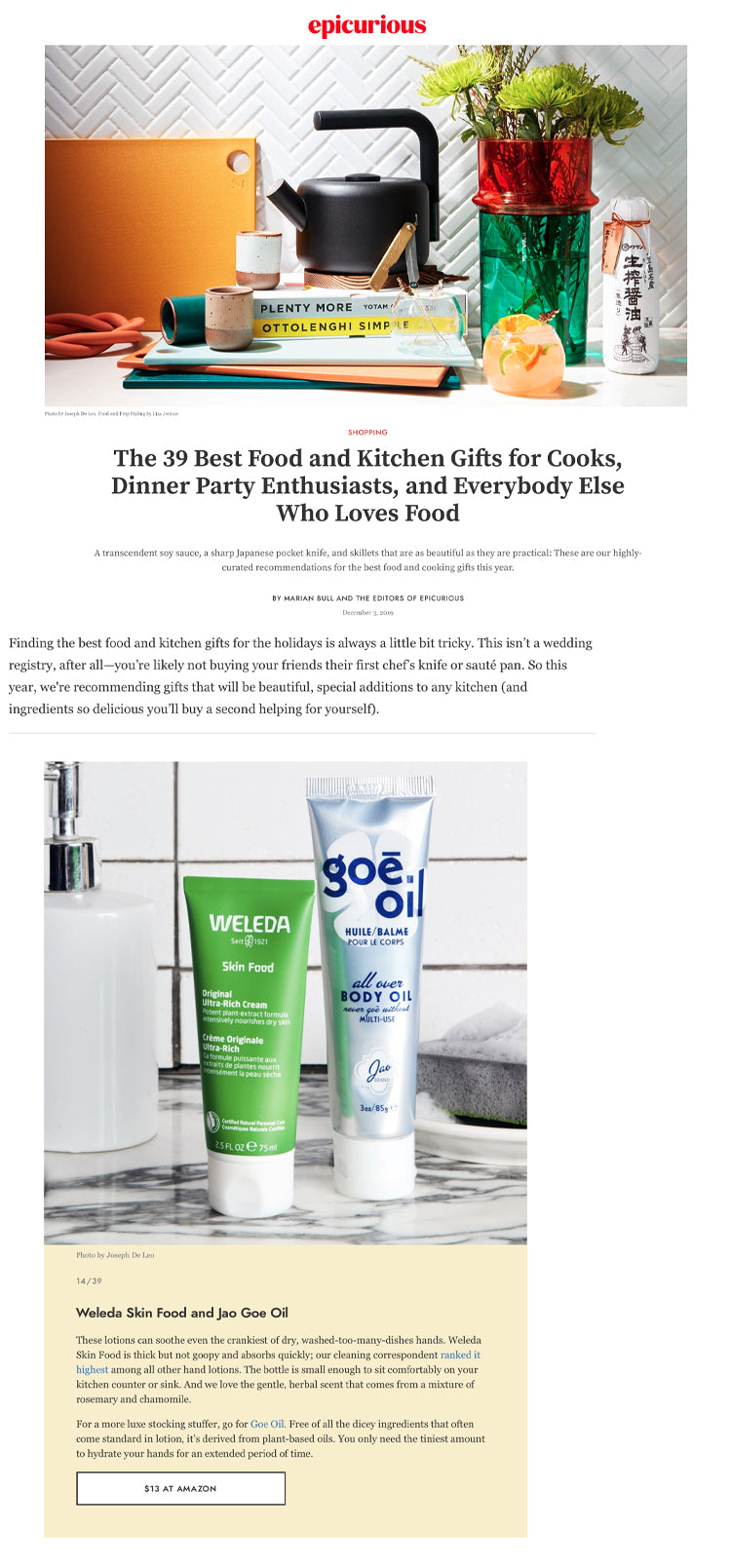 BEST FOOD AND KITCHEN GIFTS
