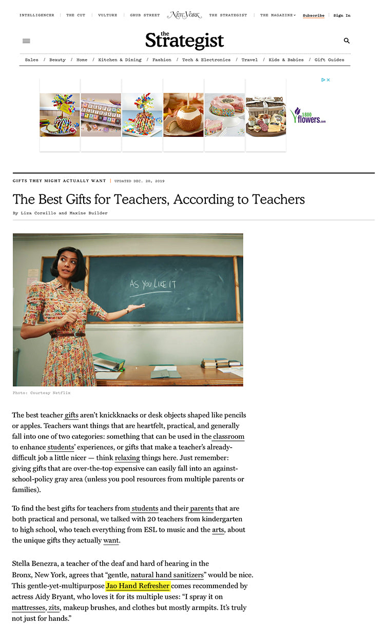 The Strategist: The Best Gifts for Teachers, According to Teachers jao refresher
