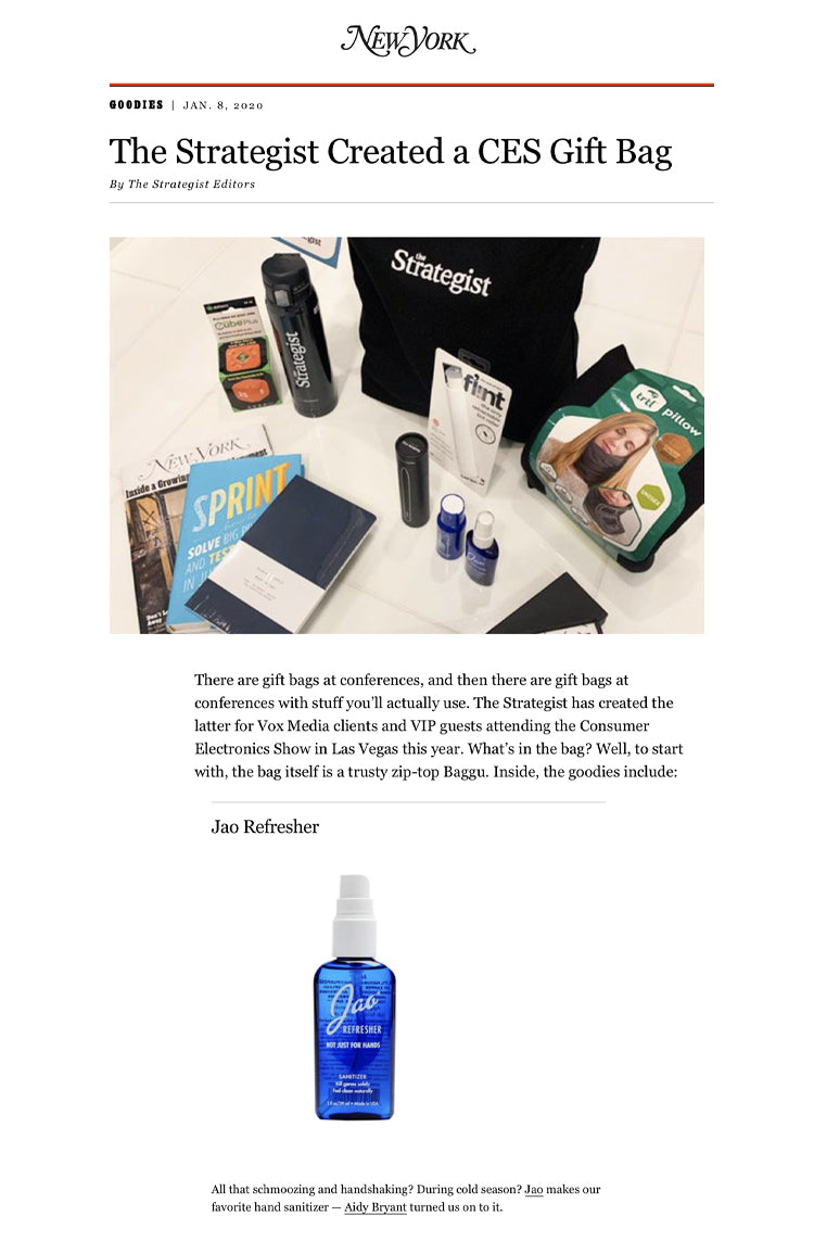 New York Magazine: The Strategist Created a CES Gift Bag