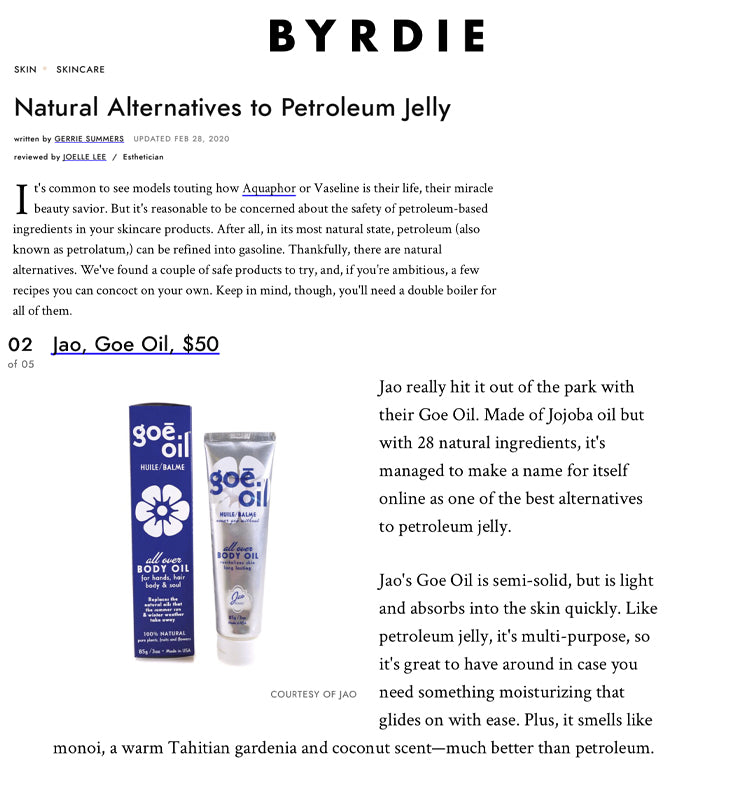 Natural Alternatives to Petroleum Jelly