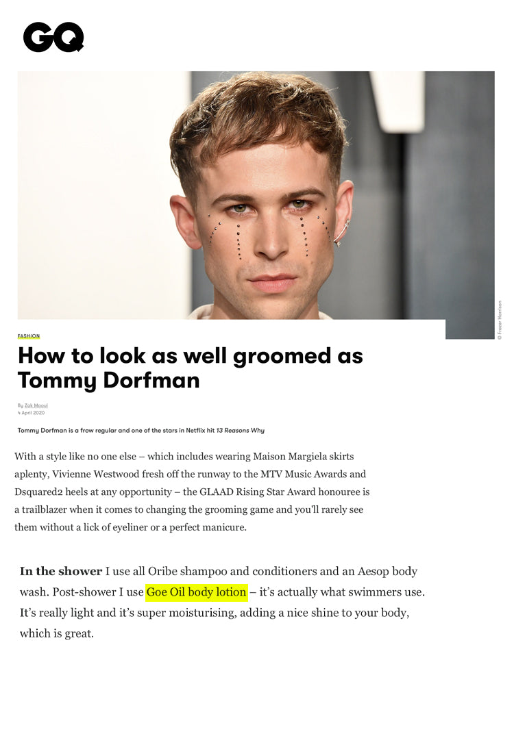 HOW TO LOOK AS WELL GROOMED AS TOMMY DORFMAN
